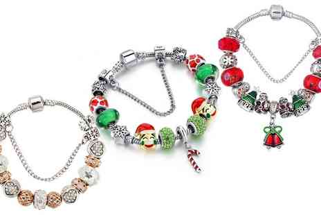 Groupon Goods Global GmbH - One or Three Christmas Charm Bracelets - Save 84%