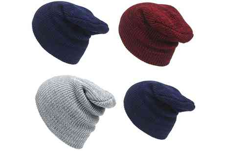Groupon Goods Global GmbH - One, Two, Three or Four Unisex Knitted Winter Hats in Choice of Colour - Save 67%
