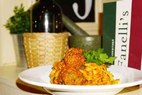 Fanellis - Two Course Italian Meal for Two or Four - Save 47%