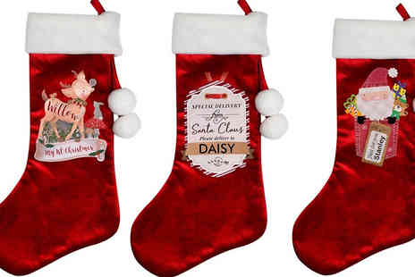 Ideal4Gifts - Personalised Christmas Stockings in 3 Styles - Save 44%