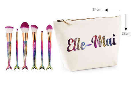 Treats on Trend - Six piece personalised mermaid makeup set - Save 60%