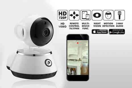 Nex Buy - HD home security camera with tilt and motion sensor or include a 16GB micro SD card - Save 81%