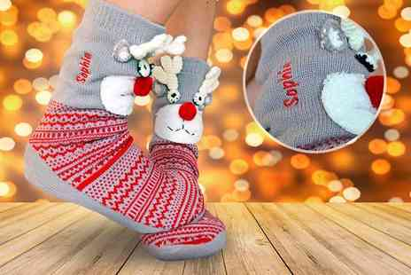 Solesmith - Personalised reindeer slipper boots - Save 59%
