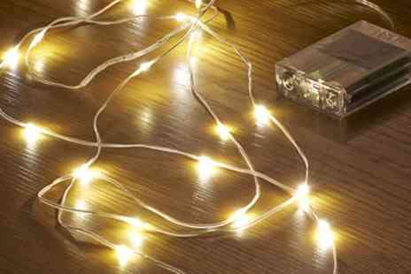 Groupon Goods Global GmbH - Up to Eight Packs of Auraglow Led String Lights - Save 83%