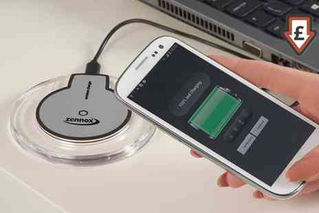 Groupon Goods Global GmbH - Wireles Charger Pad with Optional iPhone Receiver - Save 70%