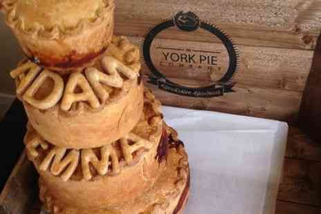 The York Pie Company - Three Tier Free Range Wedding or Celebration Pork Pie - Save 31%