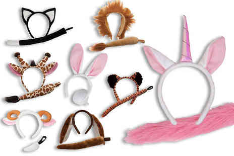 Beauty Bae - One animal ears and tail set choose from eight designs - Save 74%