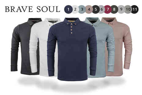 Marsel Holdings - Mens Brave Soul Lincoln long sleeve top - Save 70%