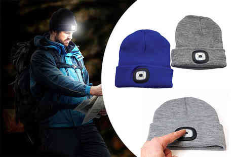 ViVo Technologies - Knitted beanie with 5 LED headlamp choose from two colours - Save 59%