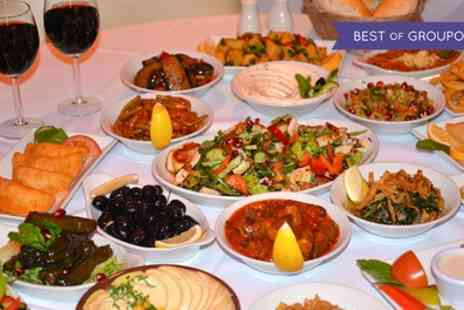 Yamal Alsham - Two Course Lebanese Meal with Wine for Two - Save 53%
