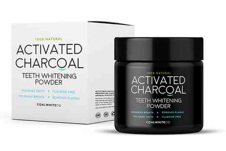 Groupon Goods Global GmbH - Coal White Activated Charcoal Teeth Whitening Powder - Save 20%
