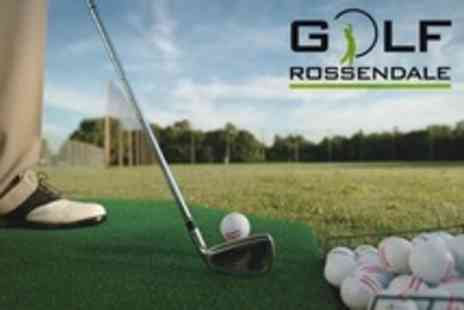 Golf Rossendale Driving Range - Driving Range of Club Hire and 100 Golf Balls Each For Four - Save 60%