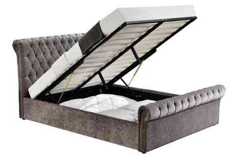 Groupon Goods Global GmbH - Chesterfield Ottoman Bed with Optional Mattress With Free Delivery - Save 0%