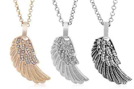Groupon Goods Global GmbH - Angel Wing Earrings, Necklace or Earrings and Necklace Set - Save 83%