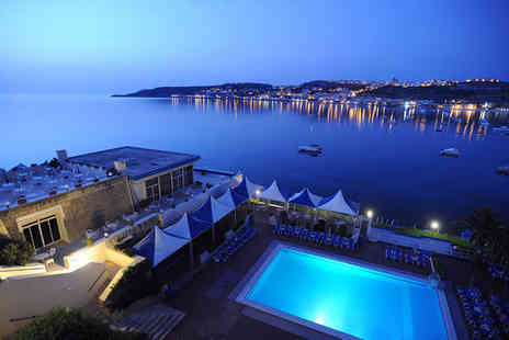 Mellieha Bay Hotel - Four Star Two Pools Overlooking Maltas Largest Bay For Two - Save 68%