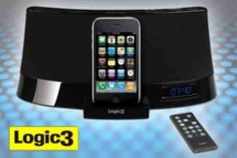 Logic3 - i Station26 Speaker Dock For iPod or iPhone With In Built Subwoofer and Radio - Save 51%
