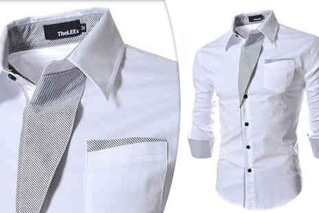 Blu Apparel - Mens Contrast Trim Shirts Available in 4 Colours - Save 73%