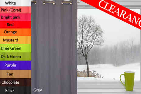 HK J and Y International Trading - High Quality Colour Curtains 140 x 240cm - Save 68%