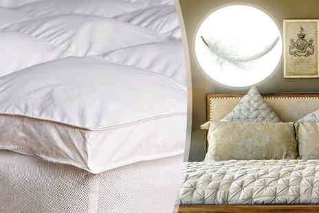High Living - Goose Feather Mattress Topper in 4 Sizes - Save 0%