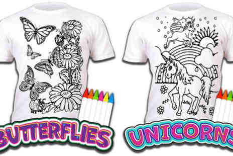 Jones and Jacks - Colour Your Own T Shirt in 5 Patterns - Save 33%