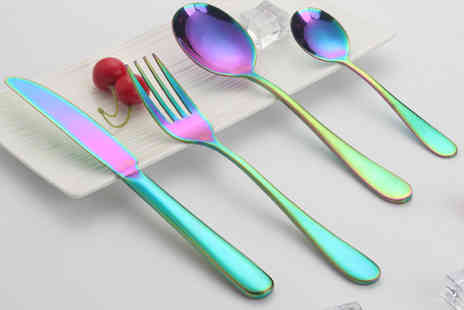 Tuscan Lilly - Four piece rainbow cutlery set - Save 80%