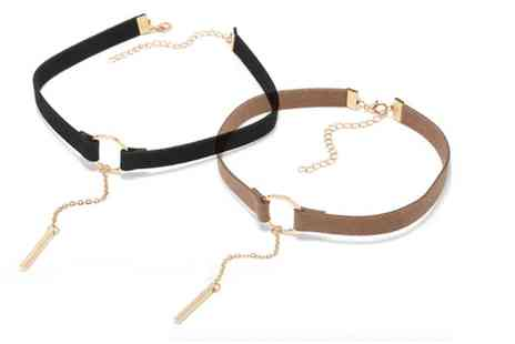 Solo Act - Two suede chokers - Save 83%