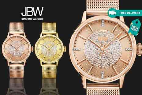Idealdeal - Ladies diamond Belle watch choose from two fabulous designs plus Delivery is Included - Save 80%