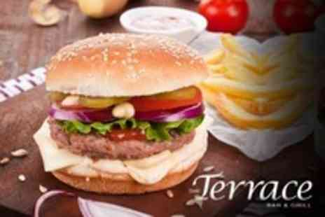 The Terrace Bar and Grill - Two Course Modern British Lunch For Two With Jug of Pimms - Save 57%
