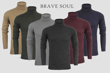 Marsel Holdings - Mens cotton roll neck jumper - Save 65%