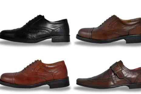 Groupon Goods Global GmbH - Mens Red Tape Leather Designer Shoes - Save 73%