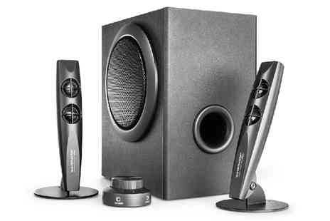 Groupon Goods Global GmbH - Wavemaster Stax 2.1 Speaker System with Remote With Free Delivery - Save 4%