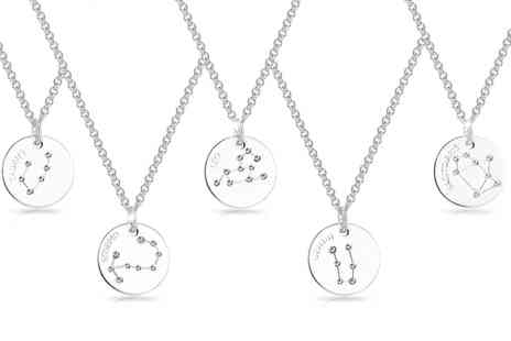 Groupon Goods Global GmbH - Philip Jones Zodiac Disc Necklace - Save 82%