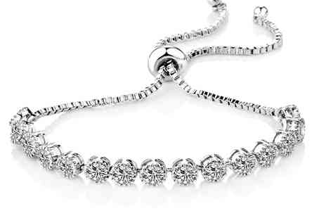 Groupon Goods Global GmbH - One or Two Zircondia Solitaire Crystal Friendship Bracelets - Save 76%