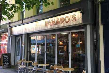 Panaros - Two or Four Pizzas with One or Two Bottles of Wine for Two or Four - Save 51%