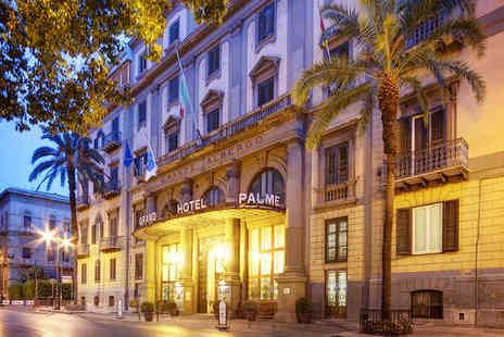 Grand Hotel et des Palmes - Four Star Old World Glamour in Sicilys Cultural Capital Stay For Two - Save 72%