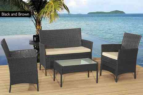 Rattan Trends - Rattan garden sofa set - Save 84%