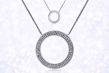 Your Ideal Gift - Open circle message necklace with crystals from Swarowski - Save 83%