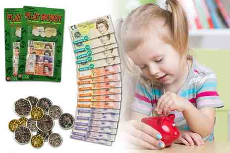 Galla Trading - Two childrens fake money play sets - Save 77%