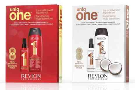 Groupon Goods Global GmbH - Revlon Uniq One Hair Treatment and Conditioning Shampoo Set - Save 55%