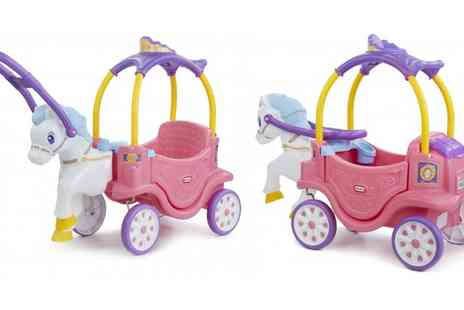Groupon Goods Global GmbH - Little Tikes Princess Horse and Carriage Coupe With Free Delivery - Save 19%