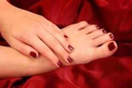 Vintage Beauty - Gel manicure and pedicure with soak off - Save 77%