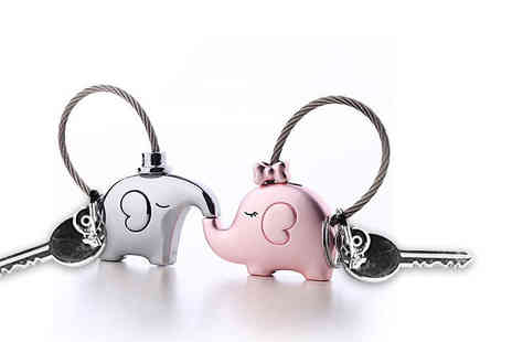 Solo Act - Two elephant love keyrings - Save 69%