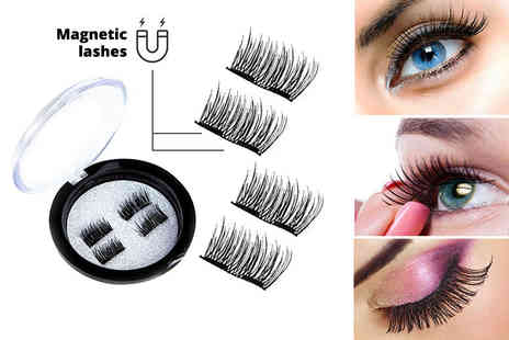 Ckent - Four magnetic 3D double lashes - Save 70%