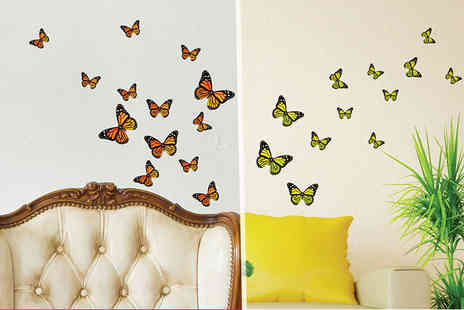 Deco Matters - Set of butterfly wall stickers - Save 93%