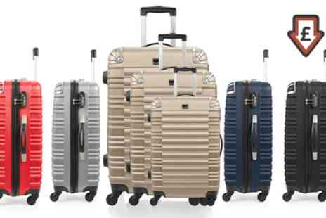 Groupon Goods Global GmbH - BlueStar Lima Three Piece ABS Luggage Set with Scale With Free Delivery - Save 82%