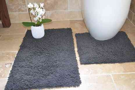 Groupon Goods Global GmbH - Rapport Home Bath and Pedestal Mat Set in Choice of Colour - Save 60%