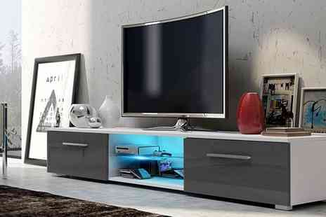 Groupon Goods Global GmbH - Selsey Edith TV Cabinet with Led Lighting in Choice of Colour With Free Delivery - Save 49%