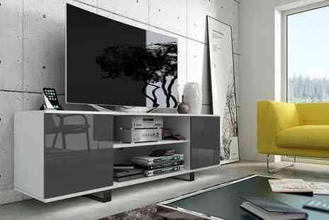 Groupon Goods Global GmbH - Selsey Vero TV Cabinet with or without Led in Choice of Colour With Free Delivery - Save 52%
