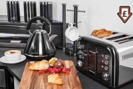 Groupon Goods Global GmbH - Morphy Richards Eight Piece Kitchen Set in Choice of Colour With Free Delivery - Save 46%