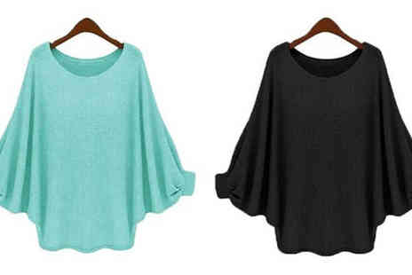 Graboom - Lightweight Batwing Top Choose 5 Colours - Save 77%